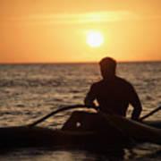 Man In Canoe Poster