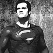 Man Of Steel Monochrome Poster