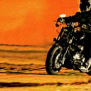 Man On Bike Poster