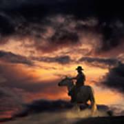 Man On Horseback Poster