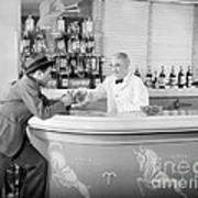 Man Ordering Another Drink, C. 1940s Poster