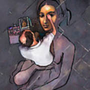 Man Painting Woman Poster