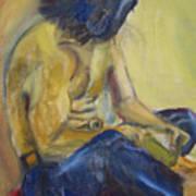 Man Reading Poster