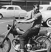Man Riding A Motorcycle Poster