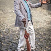 Man Smoking A Cigar Poster