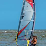 Man Wind Surfing Poster