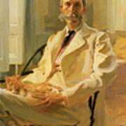 Man With Cat Poster