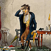 Man With Excruciating Headache, 1835 Poster