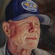 Man With Ford Cap Poster