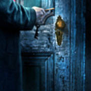 Man With Keys At Door Poster