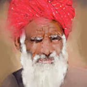Man With Red Headwrap Poster