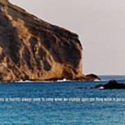 Manana Rabbit Island Quote Poster