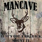 Mancave Deer Rack Poster