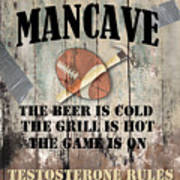 Mancave Football Poster