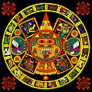 Mandala Azteca Poster