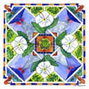 Mandala IIi - White Hibiscus Poster