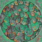 Mandala In Green Poster
