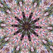 Mandala Of Cherry Blossom Poster