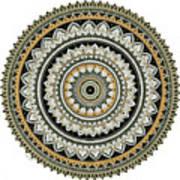 Black And Gold Mandala Poster