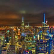 Manhattan At Night 355 Poster