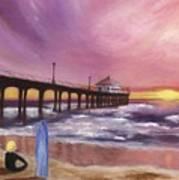 Manhattan Beach Pier Poster