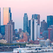 Manhattan Cruise Terminal And Skyline Poster