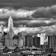 Manhattan Nyc Storm Clouds Cityview Poster
