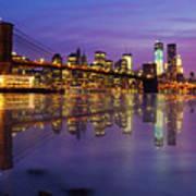 Manhattan Reflection Poster