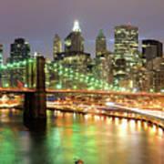 Manhattan Skyline Poster by Sean Pavone