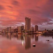 Manila At Sunset Poster