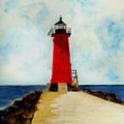 Manistique Breakwater Lighthouse Poster