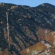 Manitou Incline Photographed From Red Rock Canyon Poster