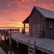Manteo Waterfront Fisherman's Net House North Carolina Obx Poster