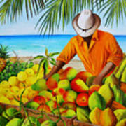 Manuel The Fruit Vendor At The Beach Poster