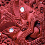 Maori Tilted Head Poster
