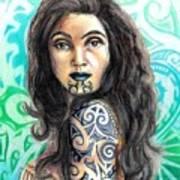 Maori Woman Poster