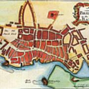 Map: Barbados, C1770 Poster