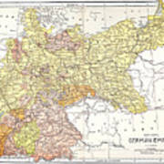Map: German Empire Poster