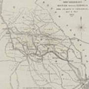 Map Illustrating General Sherman's March Through Georgia  Poster