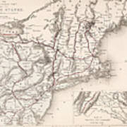 Map: Northeast U.s.a Poster