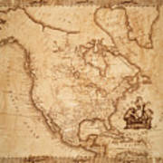 Map Of America 1800 Poster