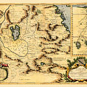 Map Of Africa 1690 Poster