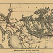 Map Of Arizona 1857 Poster