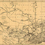 Map Of Canada 1762 Poster