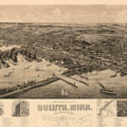 Map Of Duluth 1893 Poster