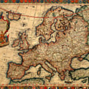 Map Of Europe 1700 Poster