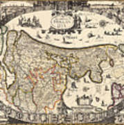 Map Of Holland 1630 Poster