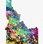 Map Of Idaho-colorful Poster