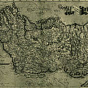 Map Of Ireland 1771 Poster