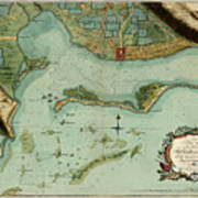 Map Of Jamaica 1756 Poster